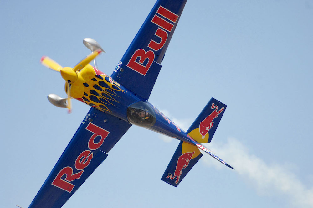 Kirby Chambliss performs at the Red Bull Air Race Plane Exhibition Aero Fest 2013 at Enrique Malek International Airport in David, Chiriqui in the Republic of Panama.