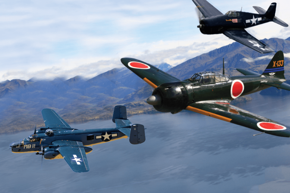 WWII Dogfight Over the Pacific
